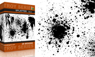 Vol.4 : Destroyed Paint Splatter Vectors