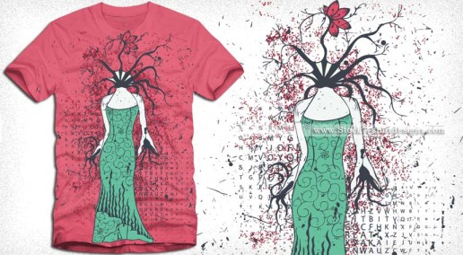 Tree Girl Apparel Vector T-shirt Design