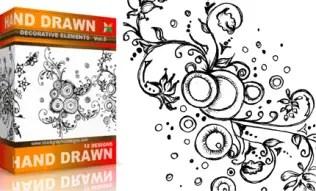 Vol.5 : Hand Drawn Sketchy Decorative Elements