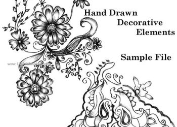 Sketchy Decorative Vector and Photoshop Brushes