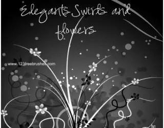 Elegant Swirls and Flowers