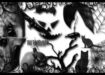 Brushes De Halloween Para Photoshop Cs5