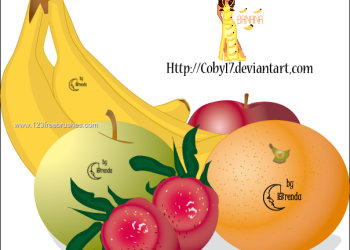 Apple – Strawberry – Banana and Orange Fruits