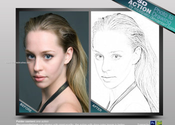Photo To Drawing Photoshop Action