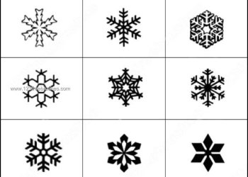 Snowflakes Photoshop Brushes Download