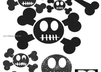 Hi-Res Funky Skulls