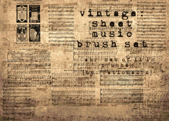 Vintage Sheet Musical Notes