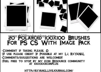 Polaroid Frames Set 1