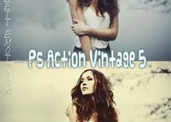 Ps Vintage Effect Photoshop Action