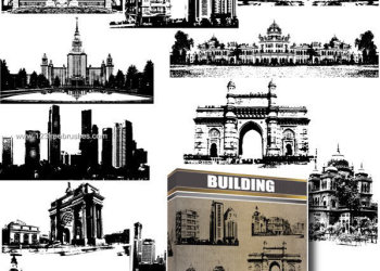 Architecture Brushes Photoshop – Old Building – House – City