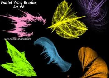 Colorful Fractal Wings