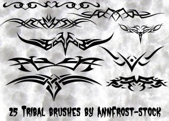 Photoshop Free Tribal Tattoo Set Brushes