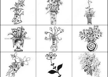 Garden Flowers Photoshop Brushes