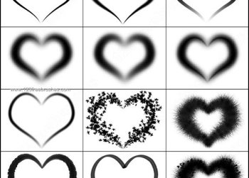 Free Photoshop Heart Brush