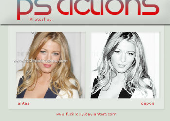 Black And White effect photoshop action
