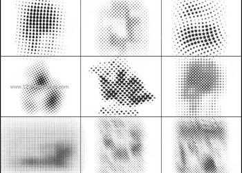 Halftone Elements Vector Photoshop Brushes