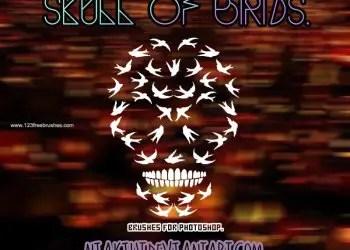 Human Skull Made of Birds