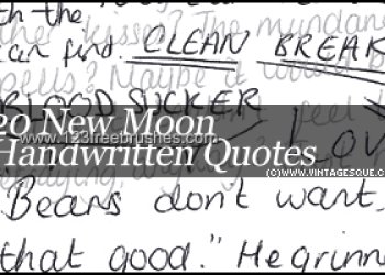 New Moon Handwritten