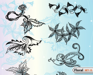 Hand Drawn Floral -Set-15