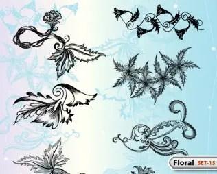 Hand Drawn Floral -Set-15