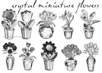 Crystal Miniature Flowers