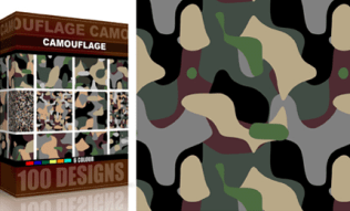 Vector Seamless Camouflage Pattern 6 Color