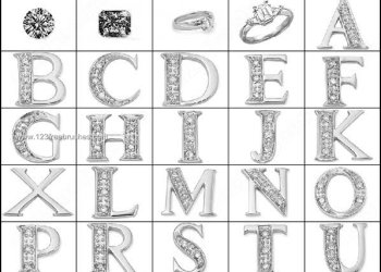 Jewelry Alphabets Brushes Free Download