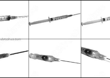 Free Photoshop Brush for Medical – Syringes