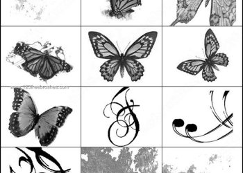 Butterflies – Swirls and Dirty Brushes