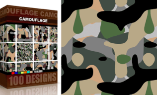 Vector Seamless Camouflage Pattern 7 Color