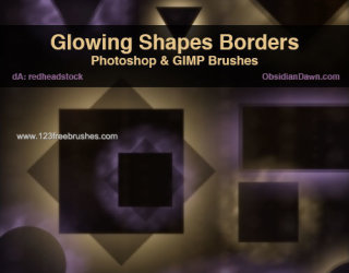 Glowing Shapes Borders