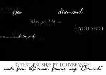 Diamonds Lyrics Text