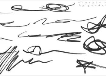 Sharpie Marker Scribbles