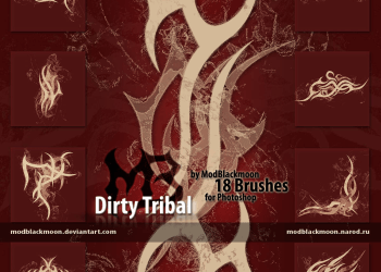 Photoshop Free Celtic knotwork tribals Brushes