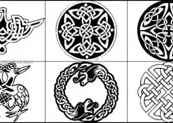 Celtic Border Tattoo Shapes Photoshop Brushes