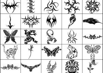 Tribal Animal Brushes – Fish – Tiger – Butterfly – Scorpion