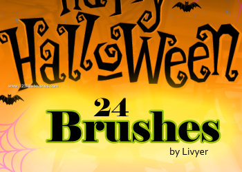 Cute Halloween Photoshop Brushes Download