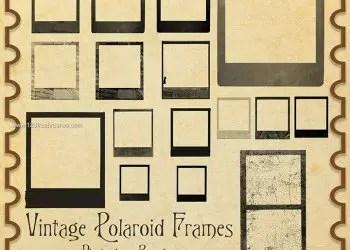 Vintage Polaroid Frames Template