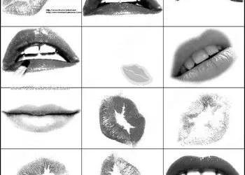 Free Lips Brushes for Photoshop 7