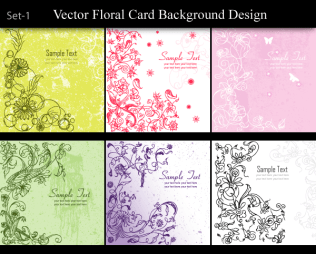 Vector Floral Card Background Design