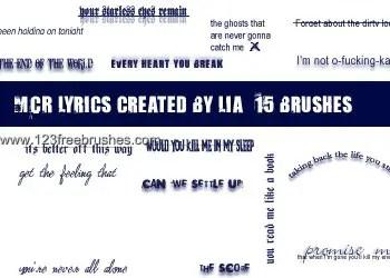 My Chemical Romance Text