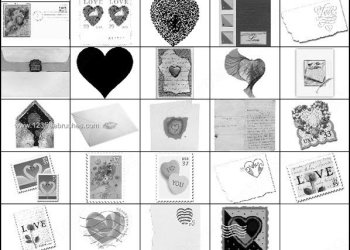 Valentine Photoshop Brushes Heart – Postage – Love Letters – Postcards – Envelopes