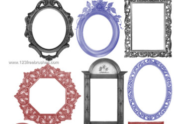 Vintage Ornate Frames Set