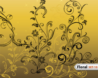 Hand Drawn Floral -Set-10