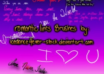 Romantic Lettering Lines