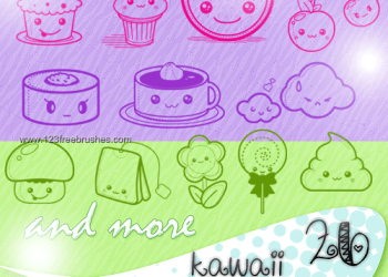 Kawaii Cake and Ice Cream