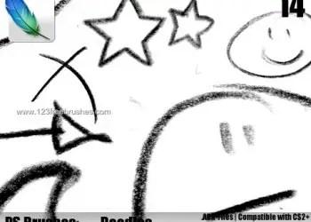 Charcoal Doodle Cartoon