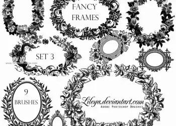 Fancy Oval Frames