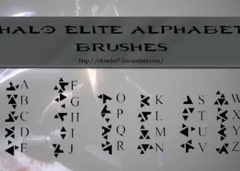 Halo Elite Alphabet