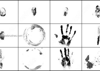 Finger Prints – Hand Prints – Stains Brushes Photoshop 7